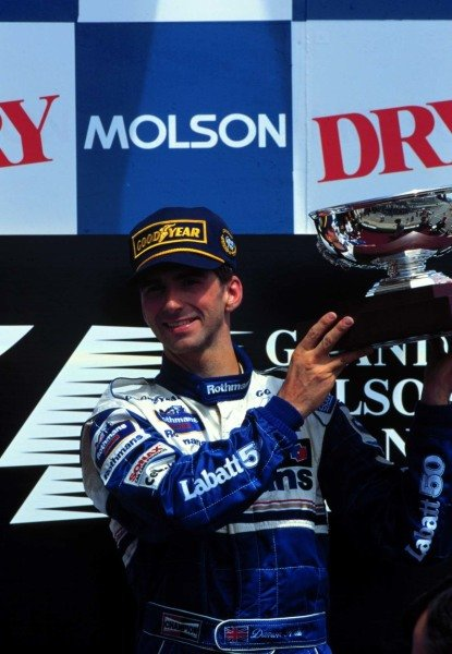 1996 Canadian Grand Prix.Montreal, Quebec, Canada.14-16 June 1996.Damon Hill (Williams Renault) 1st position.World Copyright - LAT Photographic