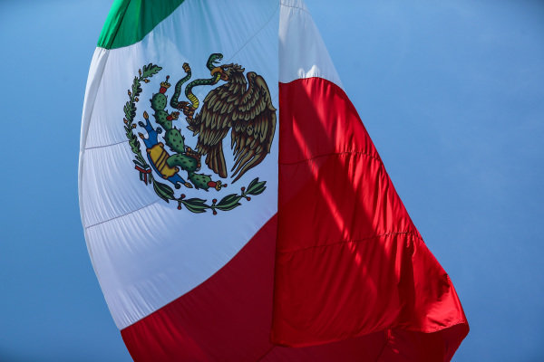 Mexican Flag at Formula One World Championship, Rd18, Mexican Grand Prix, Race, Circuit Hermanos Rodriguez, Mexico City, Mexico, Sunday 29 October 2017.