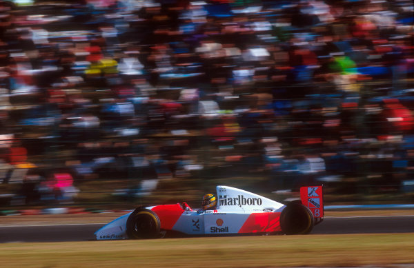 1993 Japanese Grand Prix.Suzuka, Japan.22-24 October 1993.Ayrton Senna (McLaren MP4/8 Ford) 1st position.Ref-93 JAP 11.World Copyright - LAT Photographic