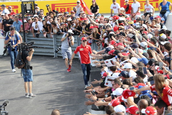 Charles Leclerc greets fans