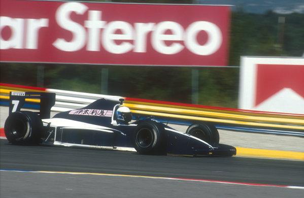 1990 French Grand Prix.Paul Ricard, Le Castellet, France.6-8 July 1990.David Brabham (Brabham BT59 Judd) 15th position.Ref-90 FRA 03.World Copyright - LAT Photographic