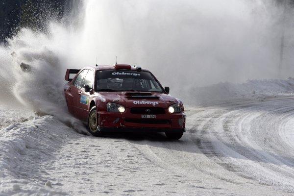 2006 FIA World Rally Champs. Round two Swedish Rally.2nd-5th February 2006.Thomas Radstrom, Subaru, action.World Copyright: McKlein/LAT