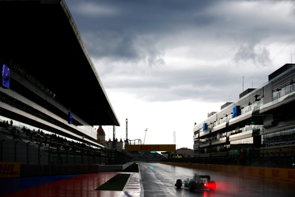 Sochi Autodrom, Sochi, Russia. Friday 9 October 2015. Nico Rosberg, Mercedes F1 W06 Hybrid. World Copyright: Glenn Dunbar/LAT Photographic ref: Digital Image _89P9597