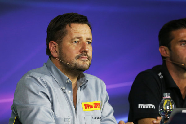Autodromo Nazionale di Monza, Monza, Italy. Friday 4 September 2015. Paul Hembery, Director, Pirelli Motorsport, in the Team Principals Press Conference. World Copyright: Jed Leicester/LAT Photographic ref: Digital Image JL2_8032
