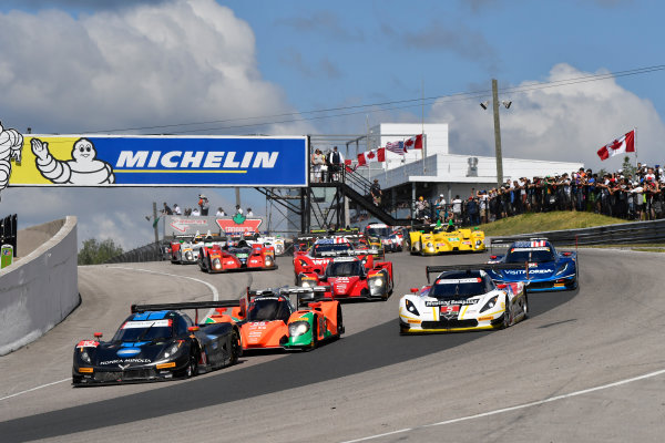 7-10 July 2016, Bowmanville, Ontario Canada 10, Chevrolet, Corvette DP, P, Ricky Taylor, Jordan Taylorl, leads, 5, Chevrolet, Corvette DP, P, Joao Barbosa, Christian Fittipaldi at the start ?2016, Scott R LePage  LAT Photo USA