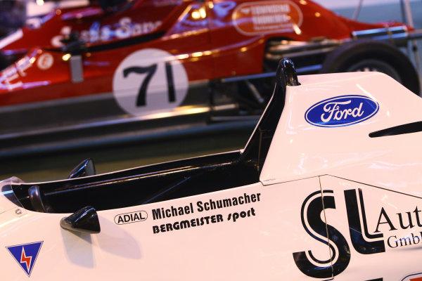 Autosport International Exhibition. National Exhibition Centre, Birmingham, UK. Saturday 14 January 2017. The Formula Ford display, including the Michael Schumacher Van Diemen RF87. World Copyright: Mike Hoyer/EbreyLAT Photographic. Ref: MDH39132