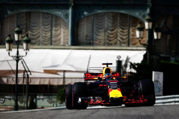 Monte Carlo, Monaco. Thursday 25 May 2017. Daniel Ricciardo, Red Bull Racing RB13 TAG Heuer. World Copyright: Sam Bloxham/LAT Images ref: Digital Image _W6I0625