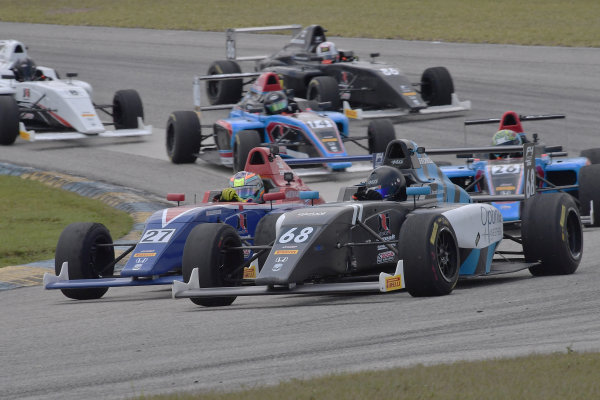 2017 F4 US Championship Rounds 1-2-3 Homestead-Miami Speedway, Homestead, FL USA Sunday 9 April 2017 #68 of Jacob Loomis dualing for postion with #27 of Austin Kaszuba World Copyright: Dan R. Boyd/LAT Images