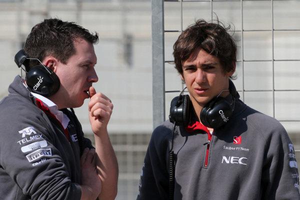 Esteban Gutierrez (MEX) Sauber. Formula One Testing, Day One, Bahrain International Circuit, Sakhir, Bahrain, Wednesday 19 February 2014.