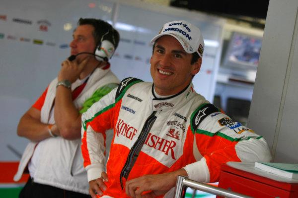Suzuka Circuit, Suzuka, Japan.9th October 2010.Adrian Sutil, Force India VJM03 Mercedes. Portrait. World Copyright:Charles Coates/LAT Photographicref: Digital Image _26Y8186