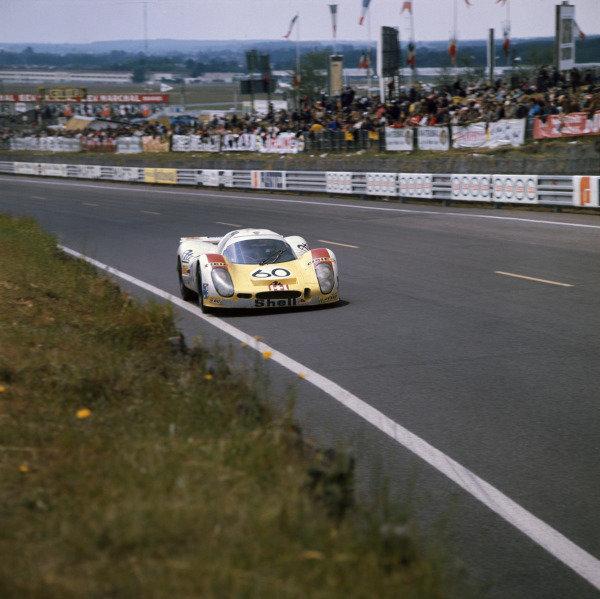 Le Mans, France. 10-11 June 1972 Reinhold Joest/Mario Casoni/Michel Weber (Porsche 908/01 L), 3rd position, action. World Copyright: LAT PhotographicRef: 72LMAS78.