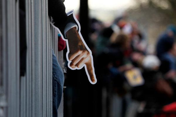 Milton Keynes.  Saturday 10th December 2011.Sebastian Vettel fan. Atmosphere. Photo: LAT Photographic.Ref: Digital Image _Q0C6865 jpg