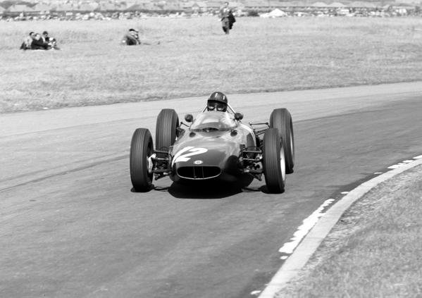 Graham Hill (GBR) BRM P57 V8 finished in 4th position British GP, Aintree, 21st July 1962