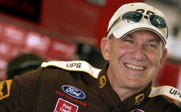Dale Jarrett (USA) UPS Ford.NASCAR Winston Cup Series, Rd 35, Pop-Secret Microwave Popcorn 400, Rockingham, North Carolina Speedway, USA, 8 November 2003.DIGITAL IMAGE