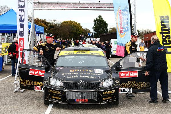 2017 Prestone MSA British Rally Championship, Rally Isle of Man. 14th - 16th September 2017. Fredrik Ahlin / Torstein Eriksen Skoda Fabia R5. World Copyright: JEP/LAT Images