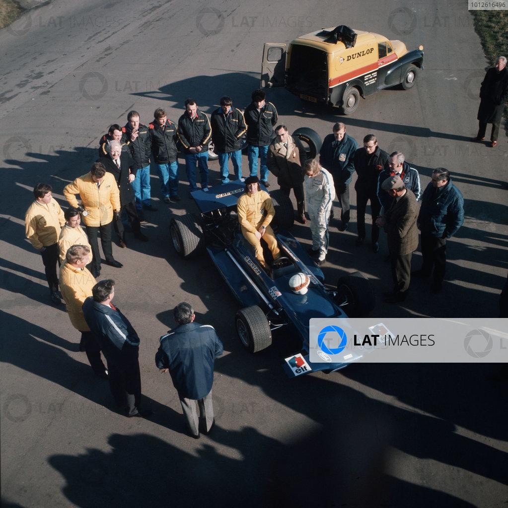 1970 Tyrrell Racing Organisation Formula 1 launch.