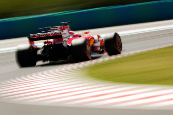 Hungaroring, Budapest, Hungary.  Saturday 29 July 2017. Sebastian Vettel, Ferrari SF70H.  World Copyright: Glenn Dunbar/LAT Images  ref: Digital Image _X4I1035