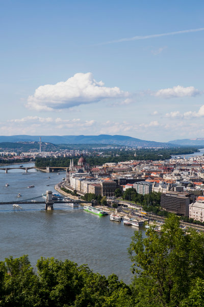 Hungaroring, Budapest, Hungary. Monday 5 June 2017. A view of the city from Citadella. World Copyright: Zak Mauger/LAT Images ref: Digital Image _56I0514