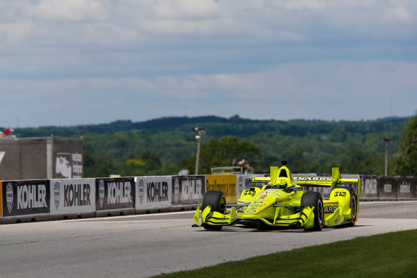 Verizon IndyCar Series Kohler Grand Prix Road America, Elkhart Lake, WI USA Sunday 25 June 2017 Simon Pagenaud, Team Penske Chevrolet World Copyright: Phillip Abbott LAT Images ref: Digital Image abbott_elkhart_0617_7907