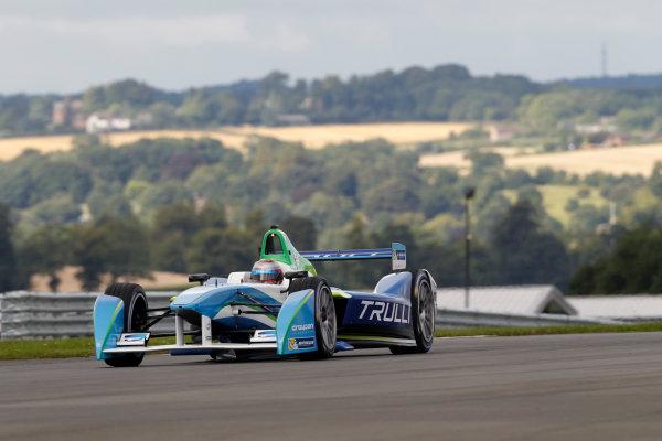 FIA Formula E Test Day, Donington Park, UK.  19th August 2014. Jarno Trulli, Trulli GP. Photo: Adam Warner/FIA Formula E ref: Digital Image _MG_5223