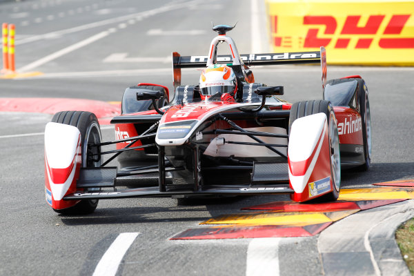 FIA Formula E - Qualifying  Beijing E-Prix, China Saturday 13 September 2014. Karun Chandhok (IND)/Mahindra Racing - Spark-Renault SRT_01E  Photo: Sam Bloxham/LAT/ Formula E ref: Digital Image _G7C1672