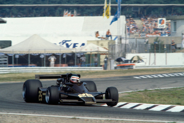 1978 German Grand Prix Hockenheim, Germany. 28th - 30th July 1978 Hector rebaque (Lotus 78 Cosworth), 6th position. World Copyright: LAT Photographic Ref: 78GER16