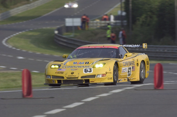 2004 Le Mans 24 HoursLe Mans France. 6th June 2004Fellows/O'Connell/Papis (Corvette Racing Chevrolet Corvette C5-R) action.World Copyright: David Lister/LAT Photoghraphic ref: Digital Image Only/Hi res Raw available