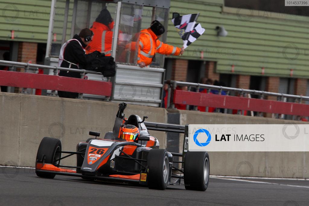 2016 BRDC British Formula 3 Championship, Snetterton, Norfolk. 27th - 28th March 2016. Matheus Leist (BRA) Double R Racing BRDC F3. World Copyright: Ebrey / LAT Photographic.