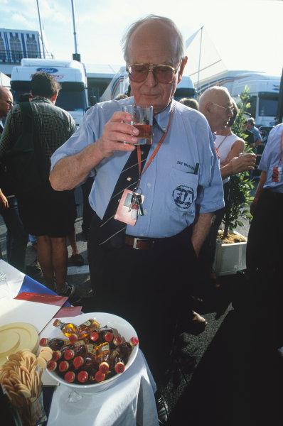 Hungaroring, Budapest, Hungary. 13-15 August 1999. Professor Sid Watkins, FIA Medical Delegate, portrait. World Copyright: LAT Photographic.Ref:  Colour Transparency
