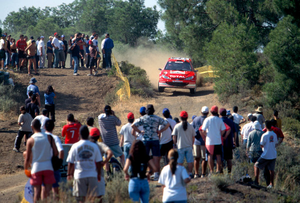 2003 World Rally ChampionshipRally of Cyprus, Cyprus. 19th - 22nd June 2003.Harri Rovanpera/Risto Pietilainen (Peugeot 206 WRC), action.World Copyright: McKlein/LAT Photographicref: 03WRCCyprus12