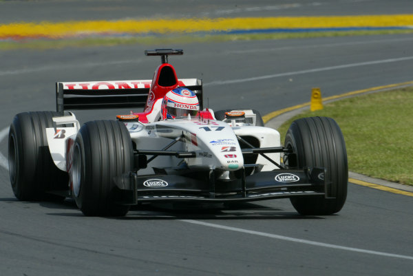 2003 Australian Grand Prix - Sunday Race,Albert Park, Melbourne, Australia.9th March 2003.Jenson Button, B-A-R Honda 005, race action.World Copyright LAT Photographic Digital image only