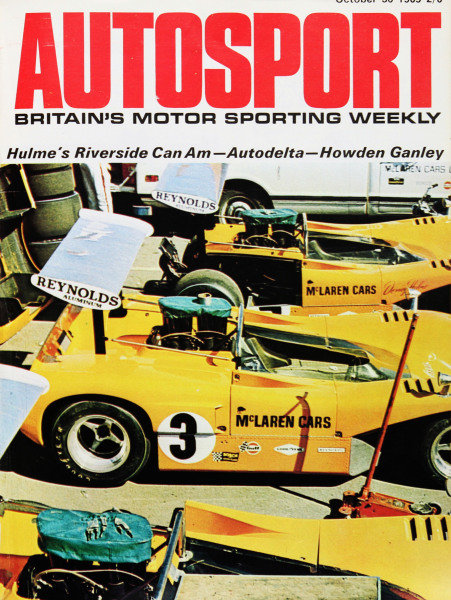 Cover of Autosport magazine, 30th October 1969