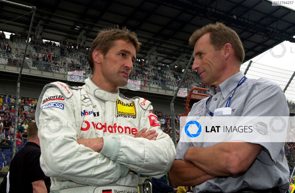 2002 DTM Championship Lausitzring, Germany. 12th - 14th July 2002. Race winner Bernd Schneider (AMG Mercedes CLK), portrait.World Copyright: Andre Irlmeier/LAT Photographic ref: Digital Image Only