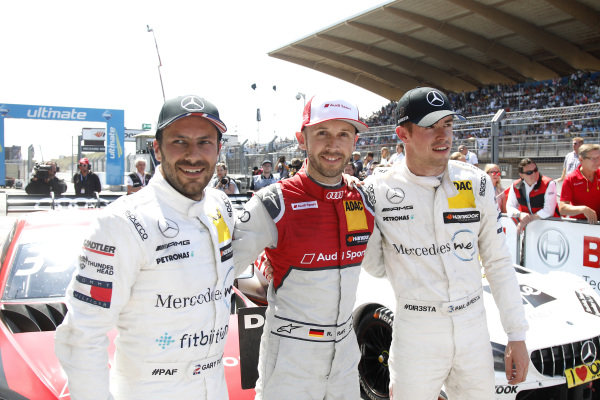 Top 3, Race winner René Rast, Audi Sport Team Rosberg, Audi RS 5 DTM, second place Gary Paffett, Mercedes-AMG Team HWA, third place Paul Di Resta, Mercedes-AMG Team HWA .