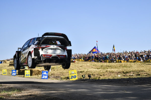 Ott Tanak airborne on Rallye Deutschland