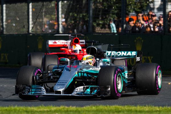 Lewis Hamilton (GBR) Mercedes-Benz F1 W08 Hybrid at Formula One World Championship, Rd1, Australian Grand Prix, Race, Albert Park, Melbourne, Australia, Sunday 26 March 2017.