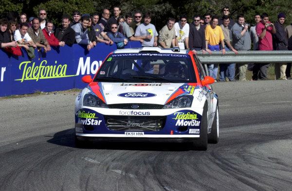 2002 World Rally ChampionshipRally Catalunya, 21st-24th March 2002.Carlos Sainz during shakedown.Photo: Ralph Hardwick/LAT