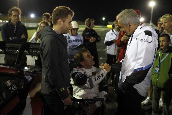 Alex Zanardi, BMW Team RMR with Jens Marquardt, BMW Motorsport Director.