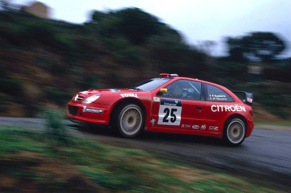 2002 World Rally ChampionshipTour De Corse, Corsica. 8th - 10th March 2002.Philippe Bugalski/Jean-Paul Chiaroni, Citroen Zsara, 4th position overall.World Copyright: McKlein/LAT Photographicref: 35mm Image 02 WRC 11