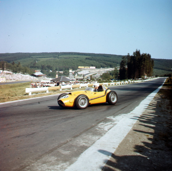 Spa-Francorchamps, Belgium.13-15 June 1958.Olivier Gendebien (Ferrari Dino 246) 6th position.Ref-3/0046.World Copyright - LAT Photographic
