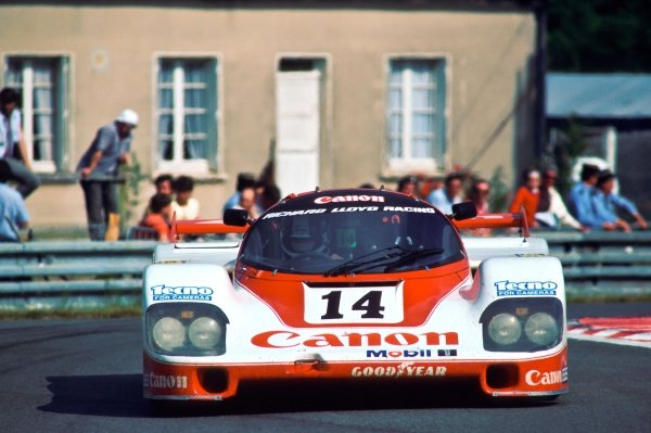 Jonathan Palmer (GBR) / James Weaver (GBR) / Richard Lloyd (GBR) Porsche 956 finished second overall. Le Mans 24 Hours, Le Mans, France, 15 - 16 June 1985.