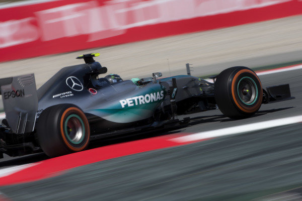 Circuit de Catalunya, Barcelona, Spain. Friday 8 May 2015. Nico Rosberg, Mercedes F1 W06 Hybrid. World Copyright: Andy Hone/LAT Photographic. ref: Digital Image _ONZ3408