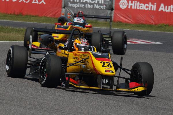 2015 Japanese Formula 3 Championship. Suzuka, Japan. 18th - 19th April 2015. Rd 1 & 2. Rd.1 Winner Mitsunori Takaboshi ( #23 B-MAX NDDP F3 ) action World Copyright: Yasushi Ishihara/LAT Photographic. Ref: 2015JF3_Rd1&2_003