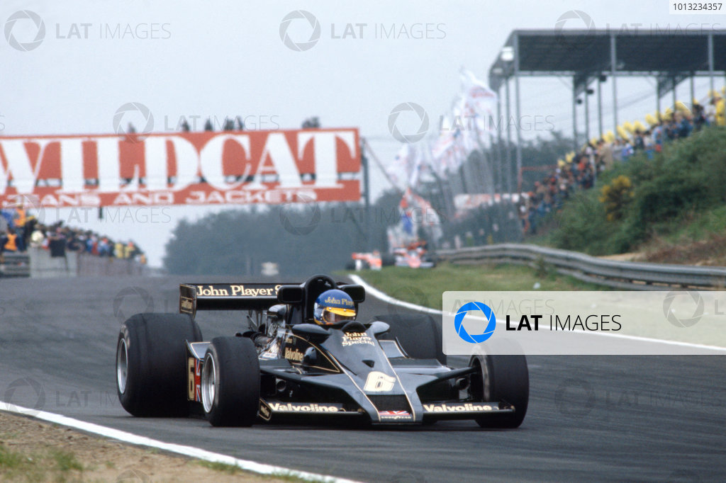 Zolder, Belgium.19-21 May 1978.Ronnie Peterson (Lotus Ford) 2nd position, action.Ref-78 BELWorld Copyright - LAT Photographic