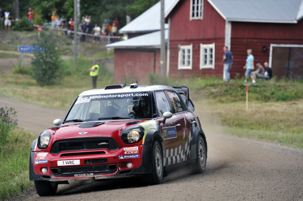 Dani Sordo (ESP) Mini WRC on the stage 7. World Rally Championship, Rd8, Neste Rally Finland, Jyvaskyla, Finland, Day Two, 29  July 2011.