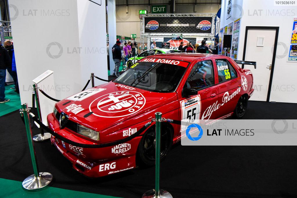 Autosport International Exhibition. National Exhibition Centre, Birmingham, UK. Friday 12th January 2018. An Alfa Romeo 155 BTCC car on display.World Copyright: Mark Sutton/Sutton Images/LAT Images Ref: DSC_8020