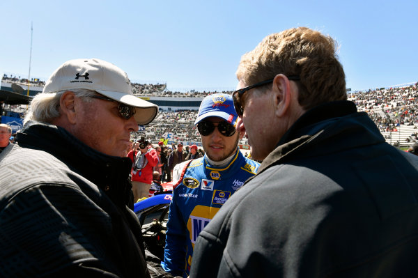 27-29 March, 2015, Martinsville, Virginia USA Chase Elliott with Bill Elliott and Rick Hendrick ? 2015, Nigel Kinrade LAT Photo USA