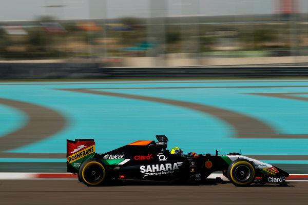 Yas Marina Circuit, Abu Dhabi, United Arab Emirates. Wednesday 26 November 2014. Spike Goddard, Force India VJM07 Mercedes.  World Copyright: Sam Bloxham/LAT Photographic. ref: Digital Image _G7C9392