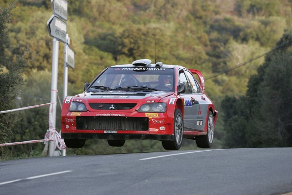 2005 FIA World Rally Champs. Round fourteenRallye De France.20th-23rd October 2005.Gigi Galli, Mitsubishi, Action.World Copyright: McKlein/LAT