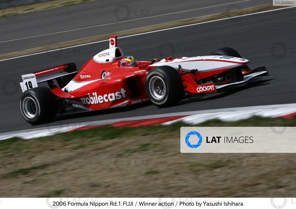 2006 Formula Nippon ChampionshipFuji Speedway. Fuji.2nd April 2006Benoit Treluyer (Mobilecast Impul) on his way to victory. Action. World Copyright: Yasushi Ishihara/LAT Photographicref: Digital Image Only.
